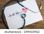 stethoscope with heart on... | Shutterstock . vector #249410962