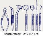 set of medical equipment tools...   Shutterstock .eps vector #249414475