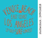 venice surf typography  t shirt ... | Shutterstock .eps vector #249416818