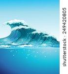 Illustration Of A Big Giant Wave