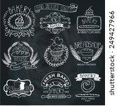 vintage retro bakery badges... | Shutterstock .eps vector #249427966
