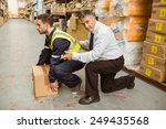 manager training worker for... | Shutterstock . vector #249435568