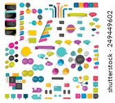 collections of info graphics... | Shutterstock .eps vector #249449602