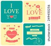 valentines day illustrations... | Shutterstock .eps vector #249450256
