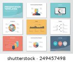 business presentation templates ... | Shutterstock .eps vector #249457498