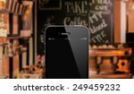 close up smart phone against... | Shutterstock . vector #249459232
