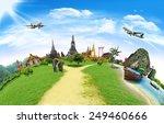 thailand travel background ... | Shutterstock . vector #249460666