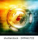 digital news background | Shutterstock . vector #249461722