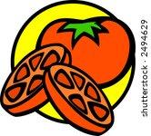 tomato slices   Shutterstock .eps vector #2494629