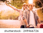 Hip Young Couple Going For - Fine Art prints