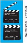 cinema  clock  start  stop | Shutterstock .eps vector #2494680