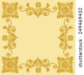 ornament gold pattern vintage... | Shutterstock .eps vector #249469432