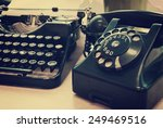vintage phone and old... | Shutterstock . vector #249469516