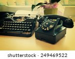 vintage phone and old... | Shutterstock . vector #249469522
