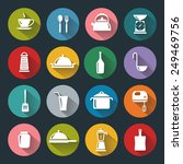 kitchen flat icons for web ... | Shutterstock . vector #249469756