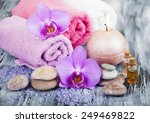 spa composition with orchid... | Shutterstock . vector #249469822