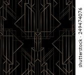 art deco geometric pattern ... | Shutterstock .eps vector #249474076