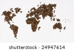 world of coffee beans | Shutterstock . vector #24947614