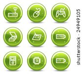 electronics web icons  green... | Shutterstock .eps vector #24949105