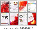 valentine's day vector set of... | Shutterstock .eps vector #249494416