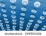 red lanterns in the sky ...   Shutterstock . vector #249501436