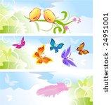 spring banners | Shutterstock .eps vector #24951001