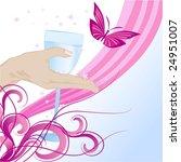 spring wine | Shutterstock .eps vector #24951007
