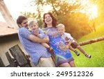 happy young family spending... | Shutterstock . vector #249512326