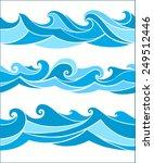 set seamless waves from element ...   Shutterstock .eps vector #249512446