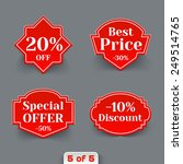 vector set of red sale retro... | Shutterstock .eps vector #249514765