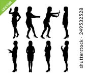 business woman silhouettes... | Shutterstock .eps vector #249532528