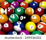 billiard balls | Shutterstock . vector #249536332
