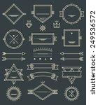 line badges  emblems and design ... | Shutterstock .eps vector #249536572