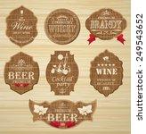 set of labels for design of... | Shutterstock .eps vector #249543652