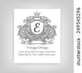 vintage emblem  monogram | Shutterstock .eps vector #249545296
