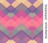 retro pattern of geometric... | Shutterstock .eps vector #249545542