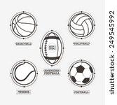 sports balls logos  emblem. | Shutterstock .eps vector #249545992