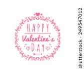 happy valentines day cards with ... | Shutterstock .eps vector #249547012