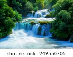 waterfalls krka  national park  ... | Shutterstock . vector #249550705