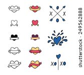 a set of cute hipster ribbons... | Shutterstock .eps vector #249562888