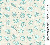 baby toys seamless pattern.  | Shutterstock .eps vector #249567115