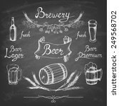 set of beer. sketch elements on ... | Shutterstock .eps vector #249568702
