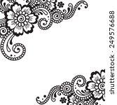 white flower corner  lace... | Shutterstock .eps vector #249576688