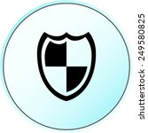 shield sign icons  vector... | Shutterstock .eps vector #249580825