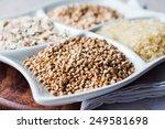 raw cereals  buckwheat  oats ... | Shutterstock . vector #249581698