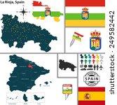 vector map of region of la...   Shutterstock .eps vector #249582442