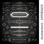 set of retro vintage badges ... | Shutterstock .eps vector #249582625