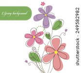 spring background with... | Shutterstock .eps vector #249582982