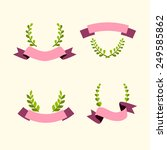 winner wreath  ribbon emblem or