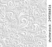 vector floral victorian... | Shutterstock .eps vector #249586816